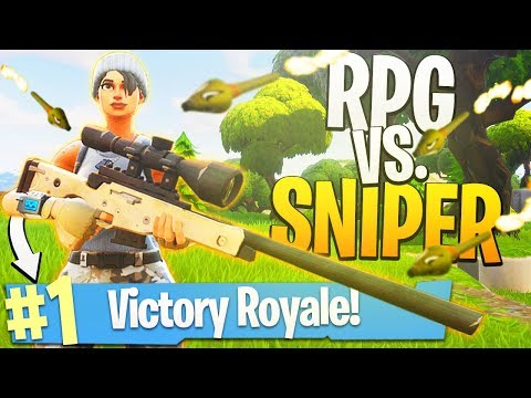 1v1 RPG vs. Sniper Rifle! - PS4 Fortnite BR SOLOS Gameplay! thumbnail