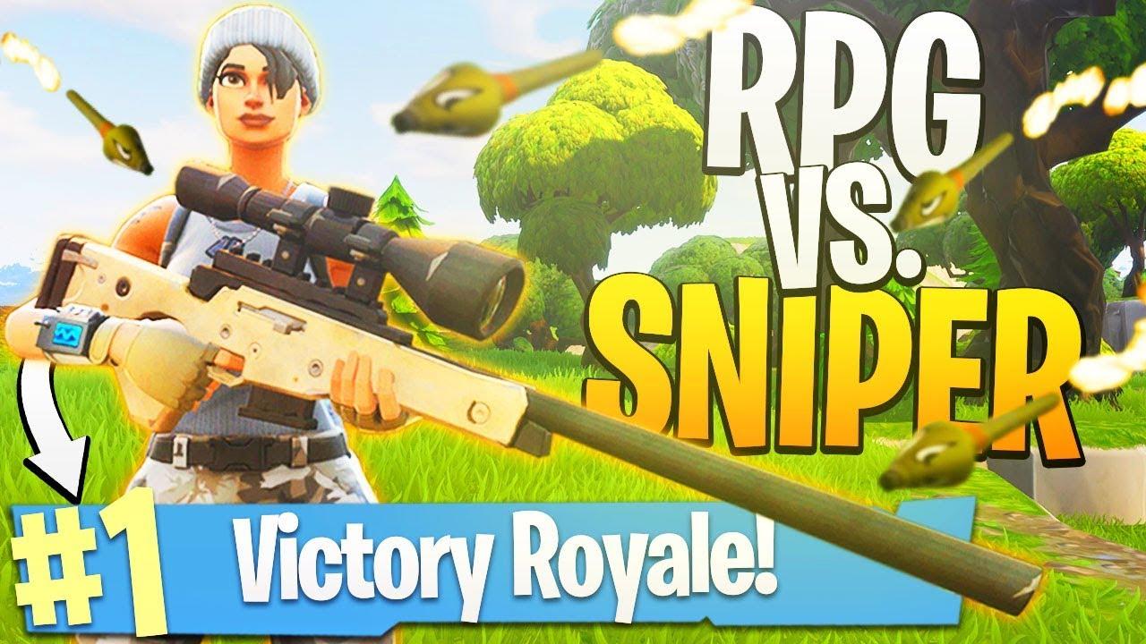 1v1 RPG vs. Sniper Rifle! - PS4 Fortnite BR SOLOS Gameplay!