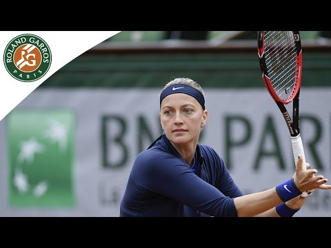 Kvitova v Kovinic 2016 Roland-Garros Women's highlights / R1