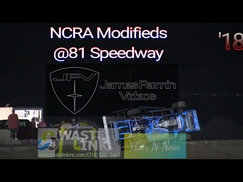 NCRA Modifieds #58, B Main & Feature, 81 Speedway, 09/15/18