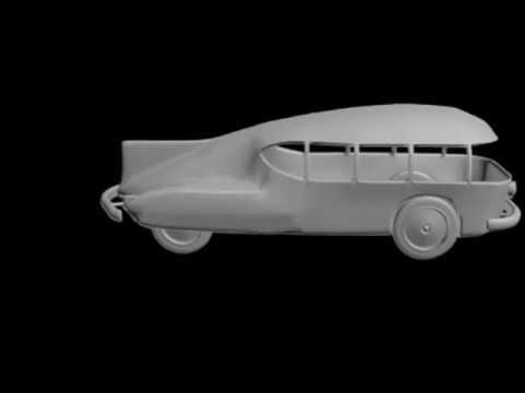 Norman Bel Geddes 3D Car Design - YouTube
