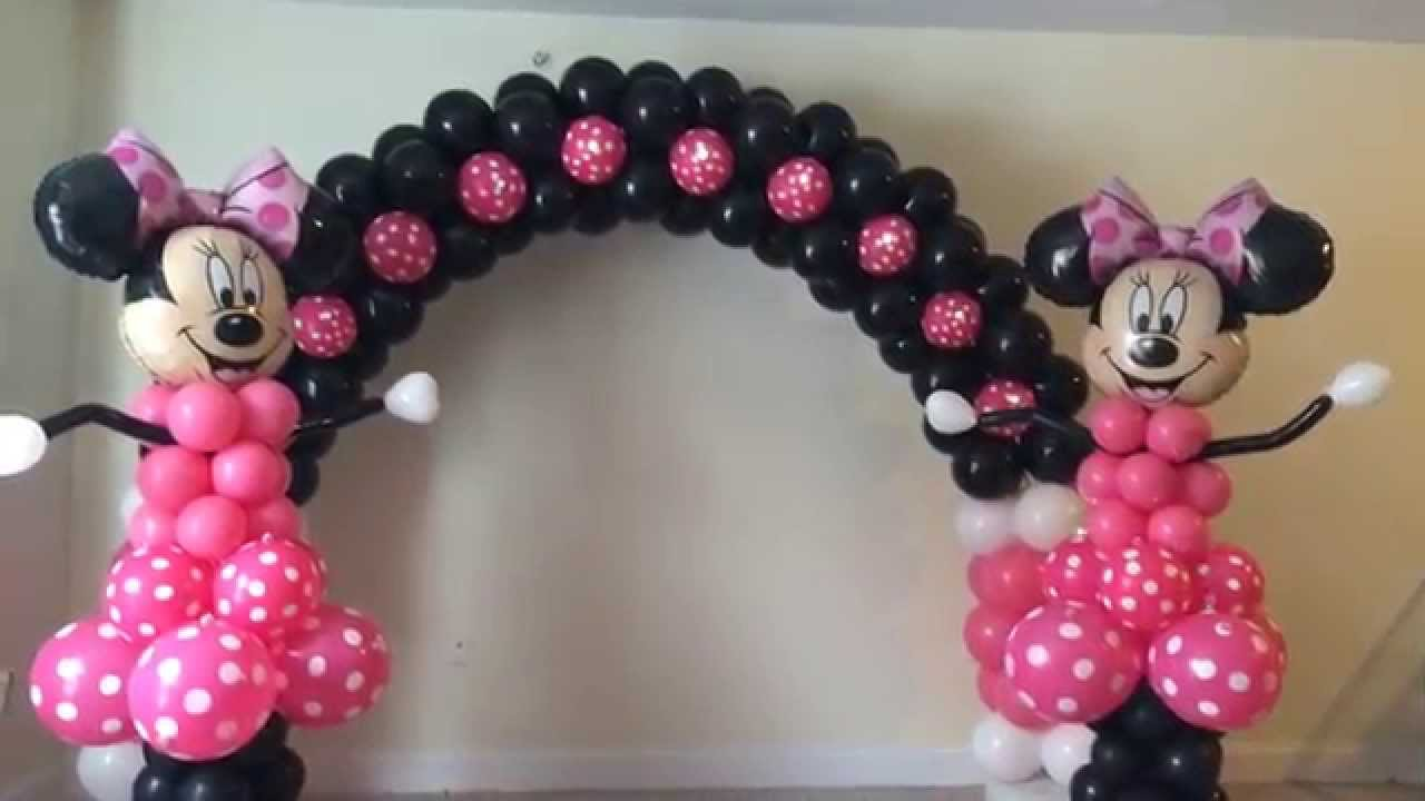Balloon decorations houston youtube for Balloon decoration minnie mouse