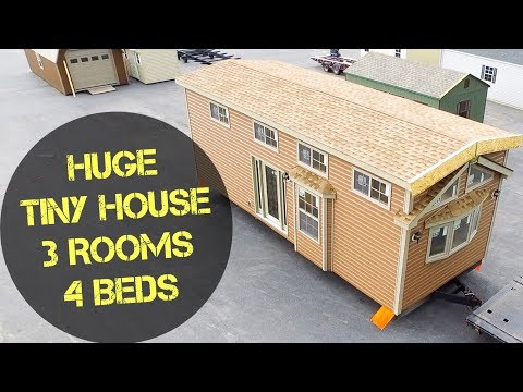 4 Beds in a TINY HOUSE?! Not So Tiny House With a Bathtub Less Than 400 SF