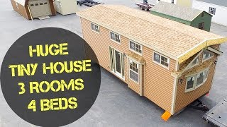 4 Beds in a TINY HOUSE?! HUGE Tiny House With a Huge Bathtub