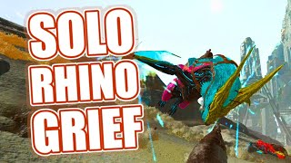 2,5K Melee Rhino is SICK! - Solo Grief - ARK: Official Small Tribes Pvp
