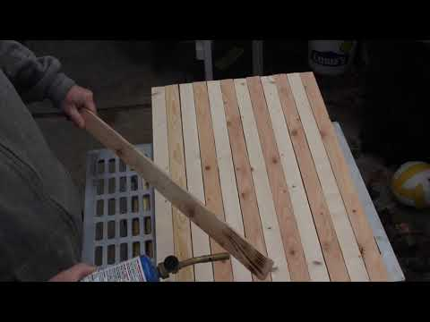 Making a wooden American flag