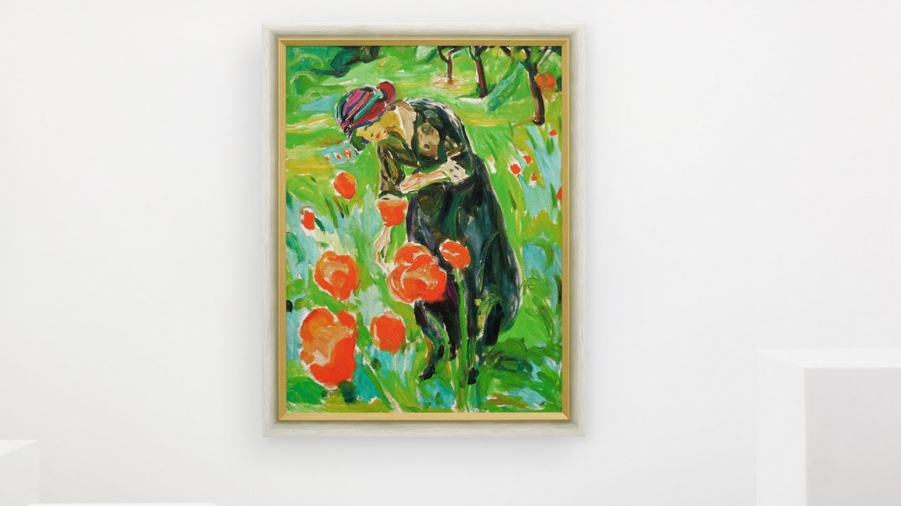 Edvard Munch Frau Mit Mohnblumen Youtube