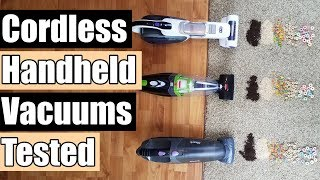 Best Cordless Handheld Vacuum 2018 - Shark vs Bissell vs Black+Decker