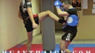 Тайский бокс для Начинающих - Тип в стиле Буакава(В сегодняшнем видео урок по Тайскому боксу для Начинающих, я покажу тебе как выполнять прямой удар ногой..., 2014-04-28T04:32:04.000Z)