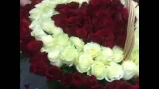 Доставка цветов Омск - Букетик - корзина роз(
