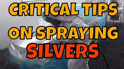 Critical tips when spraying silver with PPG WATER