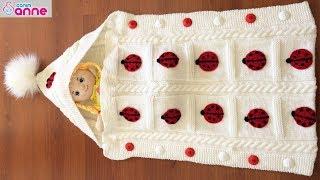 Portbebe tulum battaniye yapımı - Bebek battaniyesi yapımı @Canım Anne