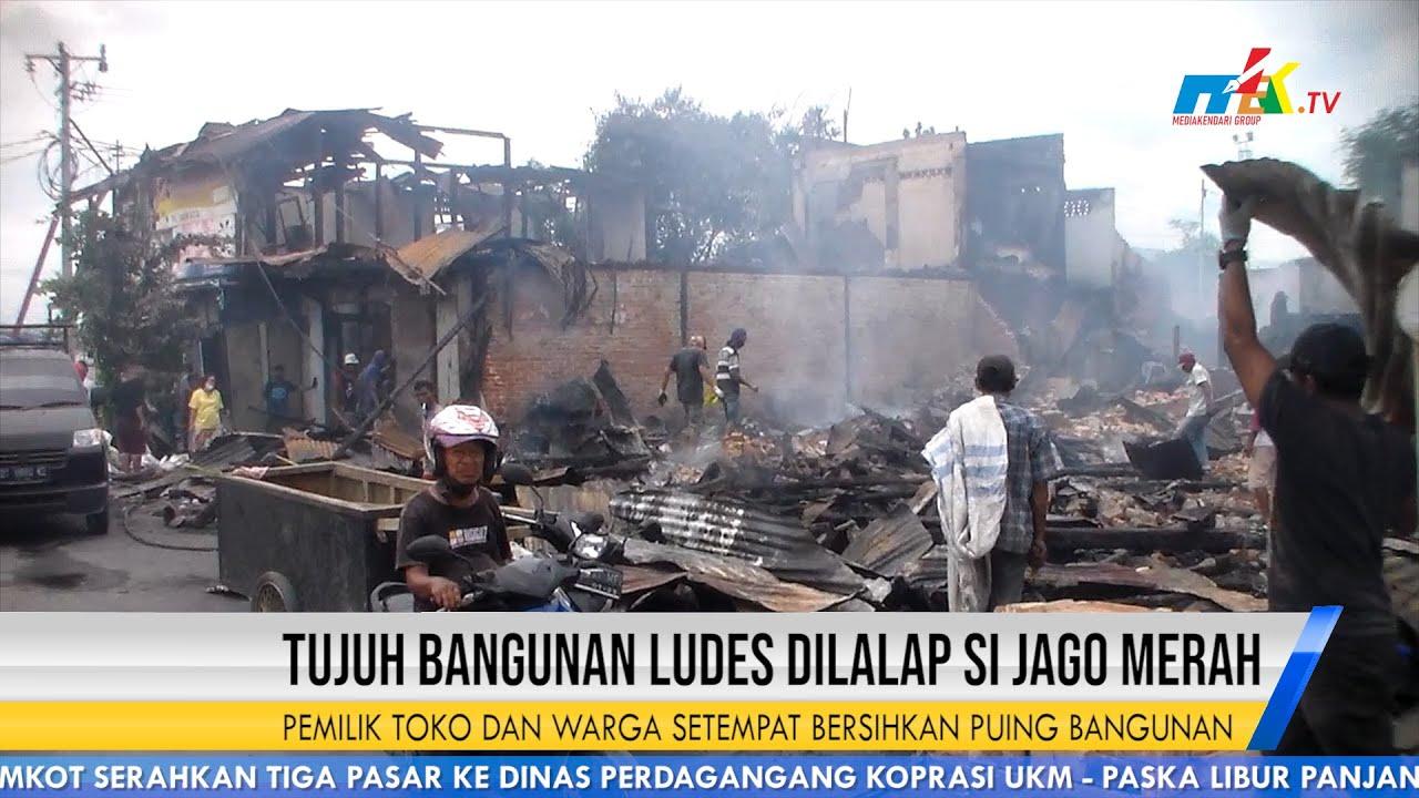 Tujuh Bangunan Ludes Dilalap Si Jago Merah