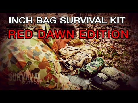 INCH Bag Survival Kit: Red Dawn Edition / USMC FILBE Pack System