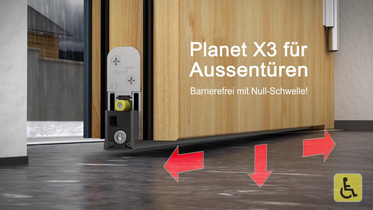 Planet X3 Die Absenkdichtung Fur Aussenturen Barrierefrei Mit