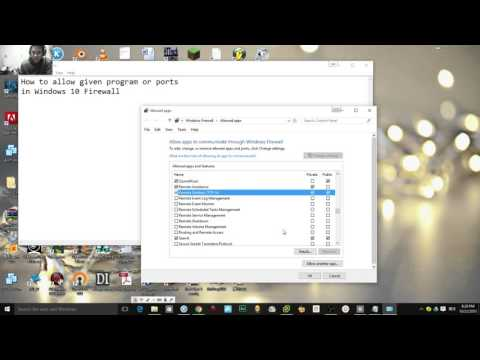 How to allow given program or ports through Windows 10 Firewall