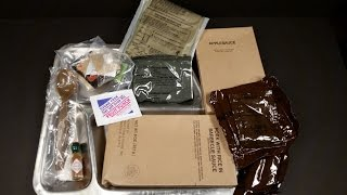 1993 Frozen For 15 years Preserved MRE Pork Rice & BBQ Sauce Ration Pack US Military Food Review √