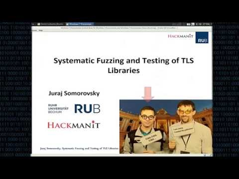 CCS 2016 - Systematic Fuzzing and Testing of TLS Libraries