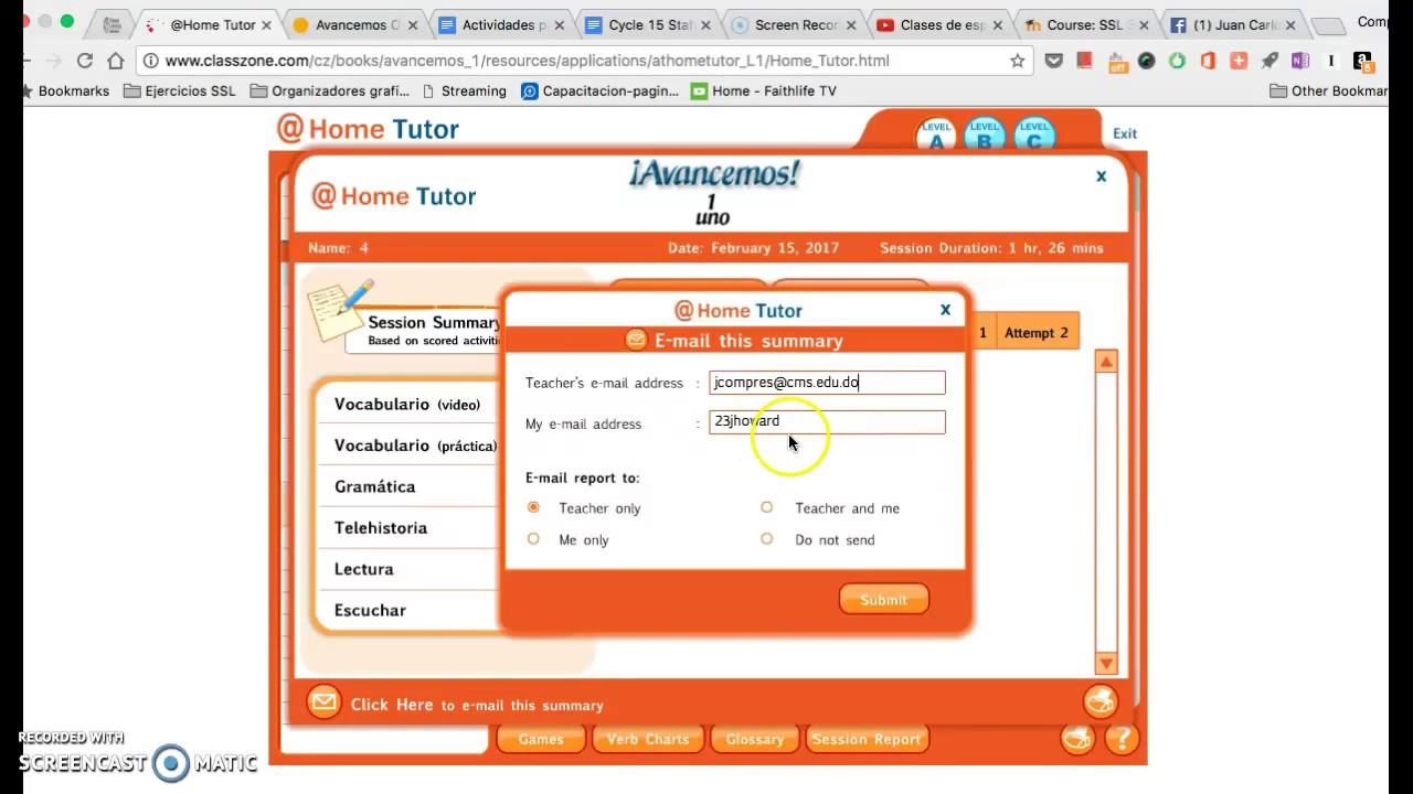 Bestseller: Answers To Classzone Avancemos 3 At Home Tutor