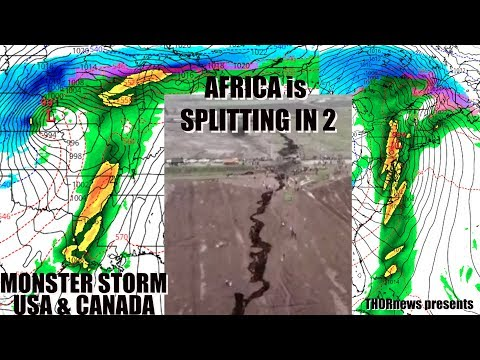 Monster Blizzard & Tornado Storm for USA & Canada + Africa is splitting in 2 parts