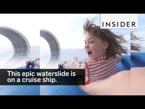 This Epic Waterslide Is On A Cruise Ship
