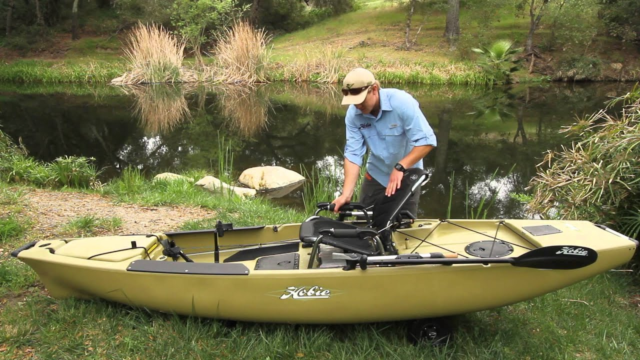Hobie Pro Angler 12 one of the widest and most stable fishing kayaks