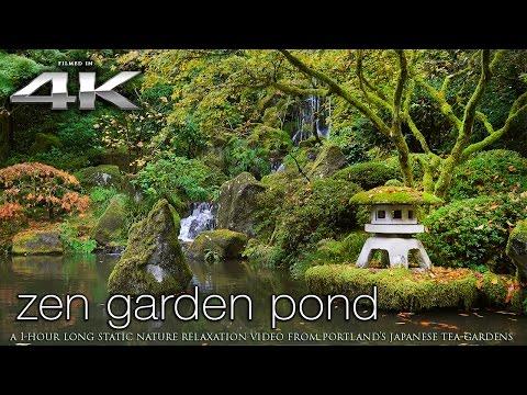 4K Zen Garden 1 HR Static Nature Relaxation Video