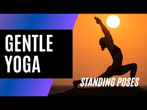 From BodyWisdom's Yoga for Inflexible People - Standing Poses