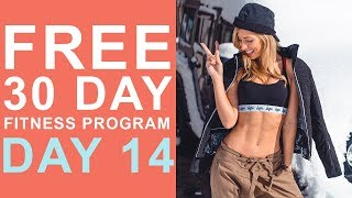 Day 14 | Free 30 Day Fitness Challenge | Fat Burn HIIT- Legs Focus screenshot 2