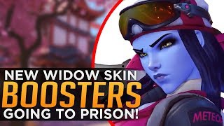 Overwatch: New Widow SKIN! Boosters Go To Prison!