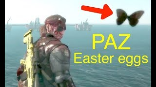 MGSV: Phantom Pain - All Paz Easter Eggs (Memento Photos) Metal Gear Solid 5