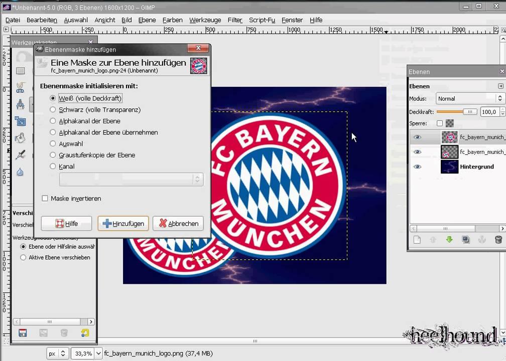 Fußball Wappen Wallpaper Tutorial mit GIMP fc Bayern - YouTube