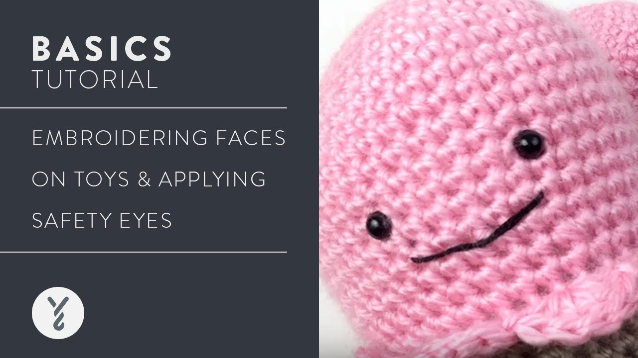Embroidering Amigurumi Faces : Embroidering faces on toys & applying safety eyes youtube