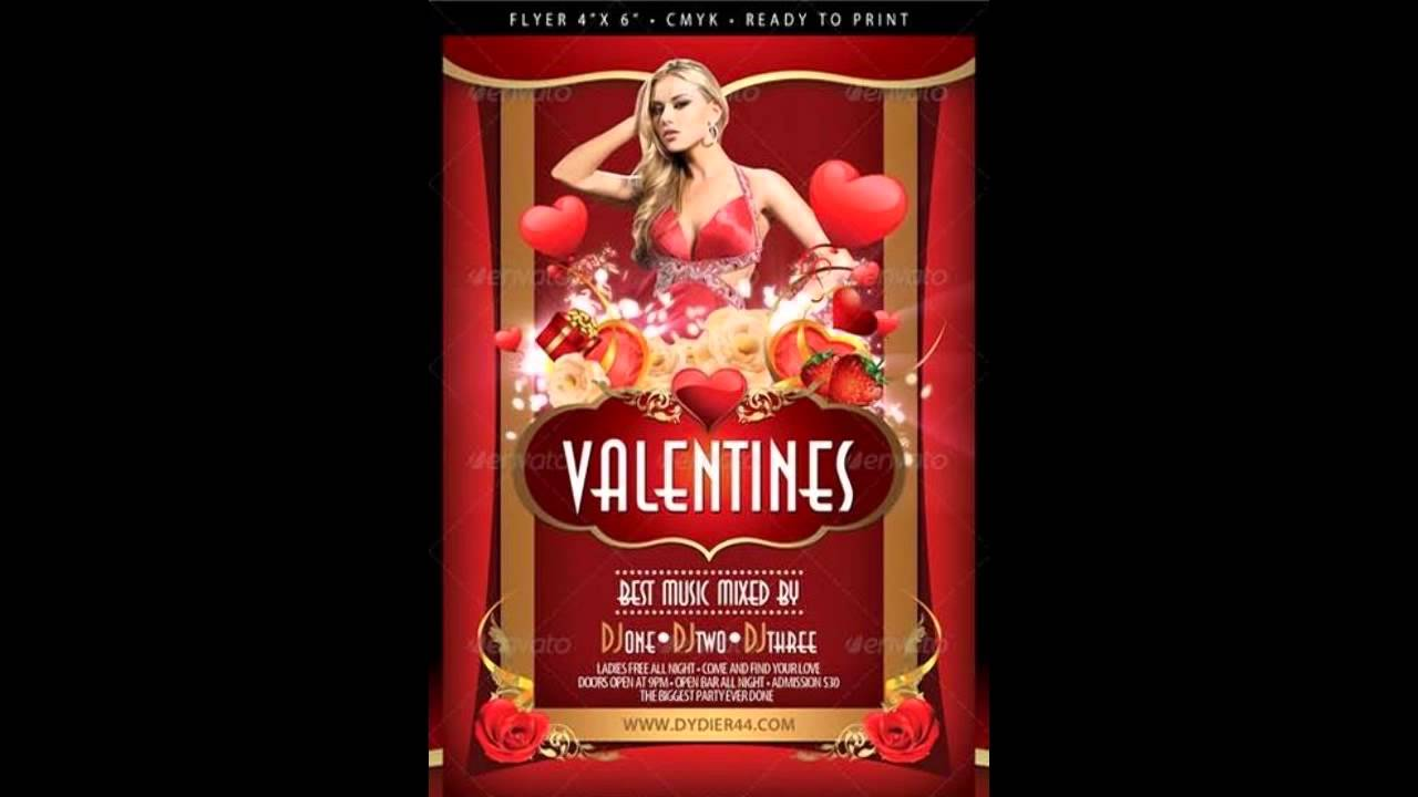 Sensual Valentines Flyer Template 4x6 FREE DOWNLOAD