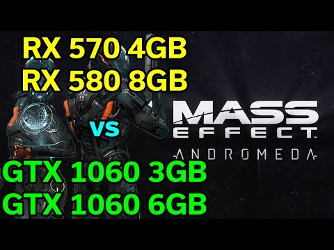 Mass Effect Andromeda - RX 570 / 580 vs GTX 1060 3GB / 6GB - 1080p