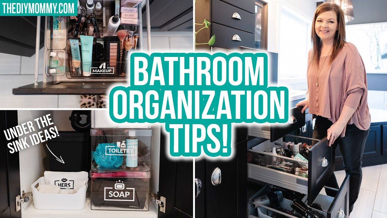 ORGANIZE WITH ME *5 Tips for organizing your bathroom drawers with Cricut Joy!*