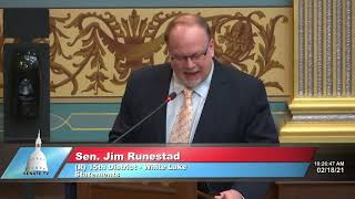Sen. Runestad on state's vaccination efforts leaving seniors behind
