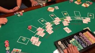 $30 buy-in $210 prize| $5 min-$1,000 max bet Blackjack with friend's and family Feb 29th 2020 Game 1