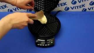 Рецепт приготовления сырных вафель в вафельнице VITEK VT-1597 BK