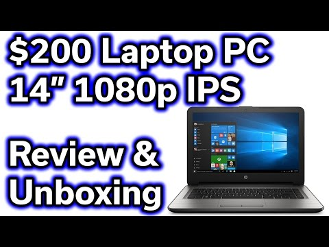 "$200 HP Laptop Computer - 14"" 1080p - AMD Quad Core - 32GB SSD"