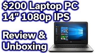 "$200 HP Laptop Computer - 14"" 1080p - AMD Quad Core - 32GB SSD"