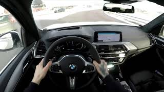 2018 BMW x3 - POV test drive DAY time | XDRIVE20D