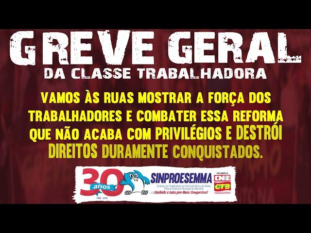 GREVE GERAL DA CLASSE TRABALHADORA 14 DE JUNHO