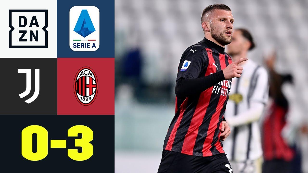 Diaz Lampe und Rebic Fackel in Richtung Königsklasse: Juventus - AC Mailand 0:3   Serie A   DAZN