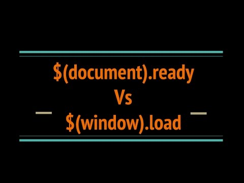 $(document).ready Vs $(window).load in Jquery
