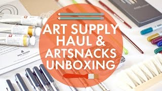 Art Supply Haul and ArtSnacks Unboxing