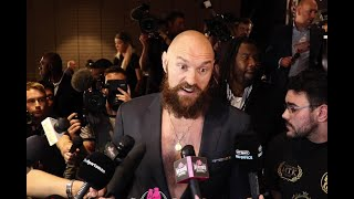 WATCH TYSON FURY REACT TO BILLY JOE SAUNDERS PLACING 70,000 BET ON HIM WINNING!