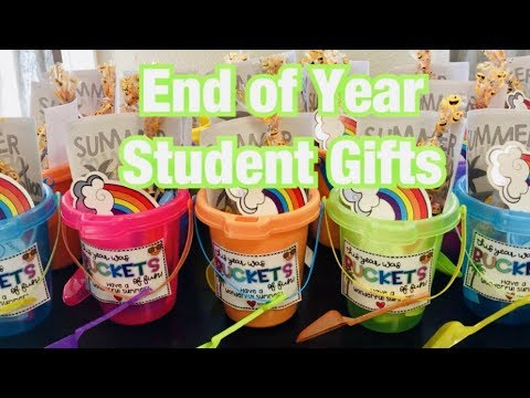 TEACHER END OF YEAR STUDENT GIFT GIFTS Sand Buckets