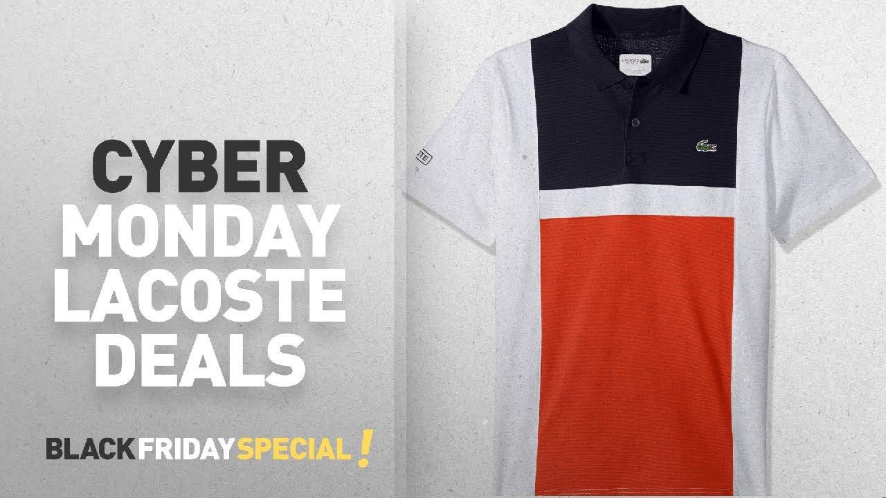 d15ab1ec Top Cyber Monday Lacoste Deals: Lacoste Men's Tennis Short Sleeve ...