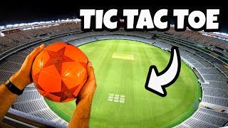 SOCCER TIC TAC TOE from STADIUM ROOF!...